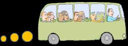 皆でバスに乗りました!