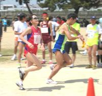 ともに国際ランナーの山田美由紀さんと那須政弘さん