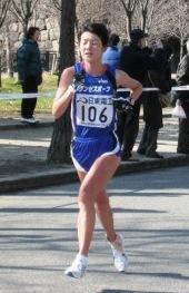 2009大阪国際女子を走る小林玲子さん