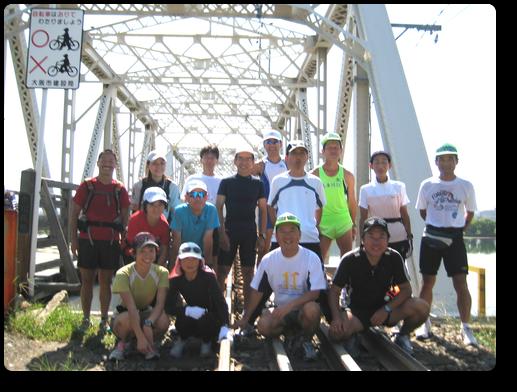 赤川鉄橋にて