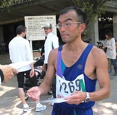 10Km優勝の松本明さん